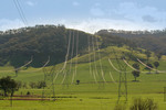 Powerlines near Khancoban from Snowy Hydro