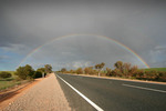Rainbow in the Mallee near Lameroo, South Australia