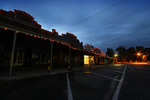 Murrayville shops on dusk, Victoria