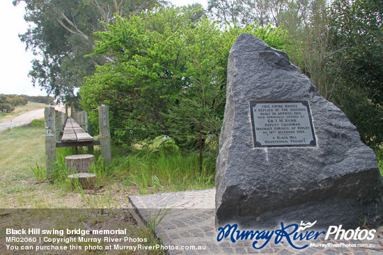Black Hill swing bridge memorial