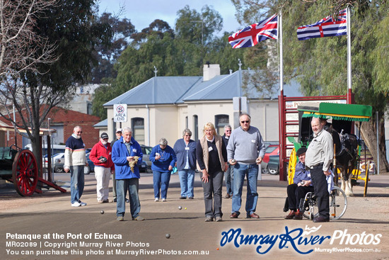 Petanque at the Port of Echuca