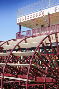 Rear paddle wheel for Murray Princess, Mannum