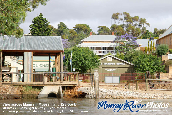 View across Mannum Museum and Dry Dock