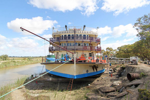 Murray Princess in dry dock, Renmark