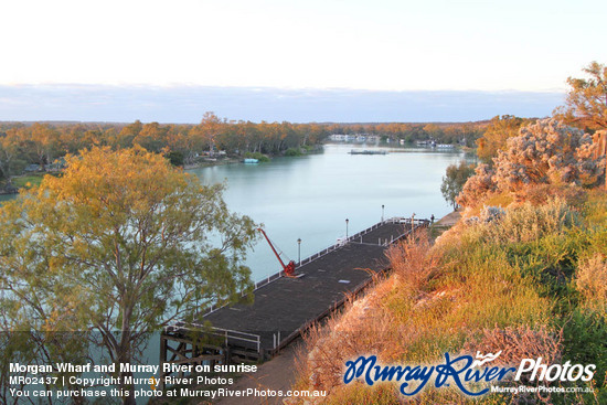 Morgan Wharf and Murray River on sunrise