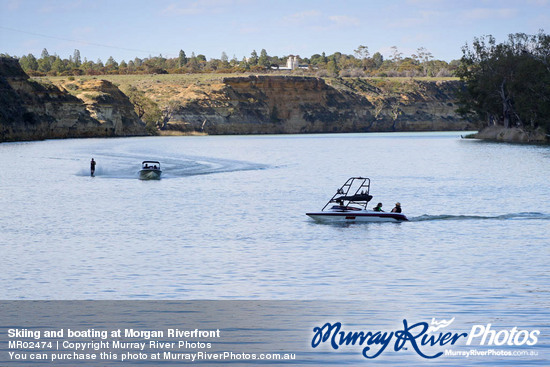 Skiing and boating at Morgan Riverfront