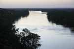 Murray River on last light at Headings Cliffs, Riverland