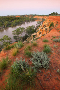 Headings cliffs on last light, Murtho, Riverland