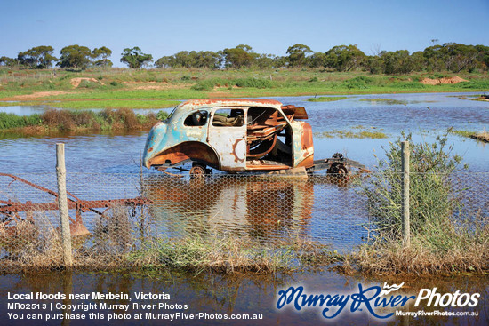 Local floods near Merbein, Victoria
