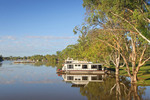 Houseboats moored on Morgan Riverfront, Murray River