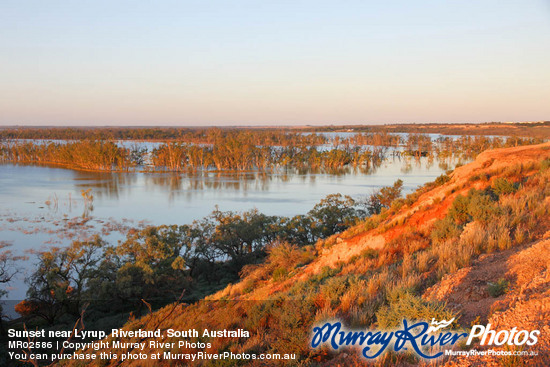 Sunset near Lyrup, Riverland, South Australia