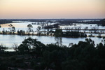 Last light at Pikes Creek near Paringa