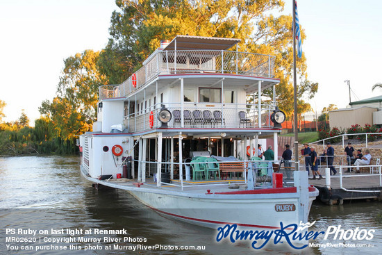 PS Ruby on last light at Renmark