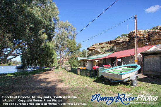Shacks at Caloote, Murraylands, South Australia
