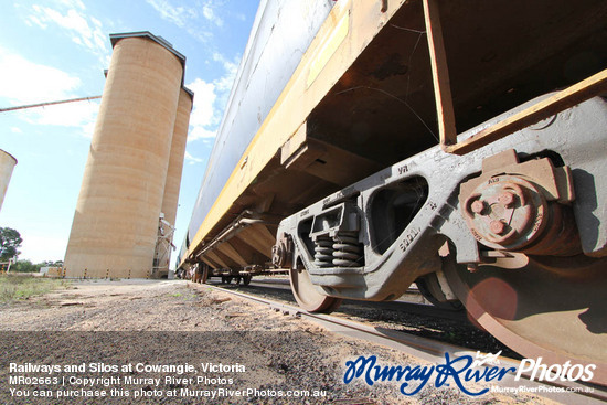 Railways and Silos at Cowangie, Victoria