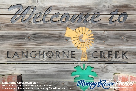 Langhorne Creek town sign