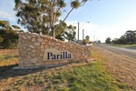 Parilla town sign, South Australia