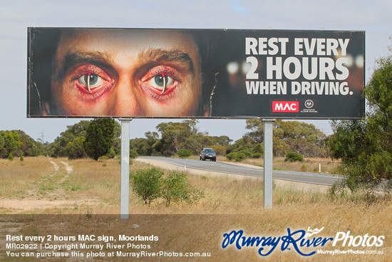 Rest every 2 hours MAC sign, Moorlands