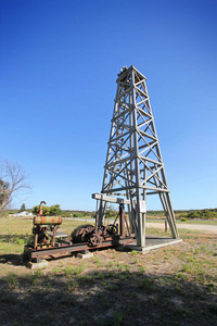 Replica oil rig at Salt Creek, Coorong