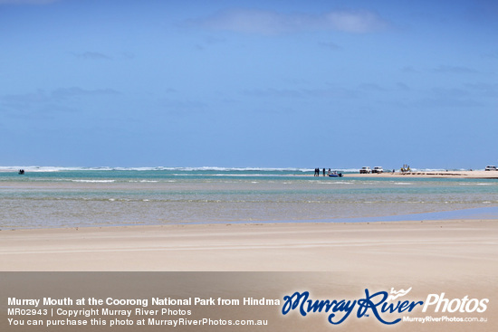 Murray Mouth at the Coorong National Park from Hindmarsh Island