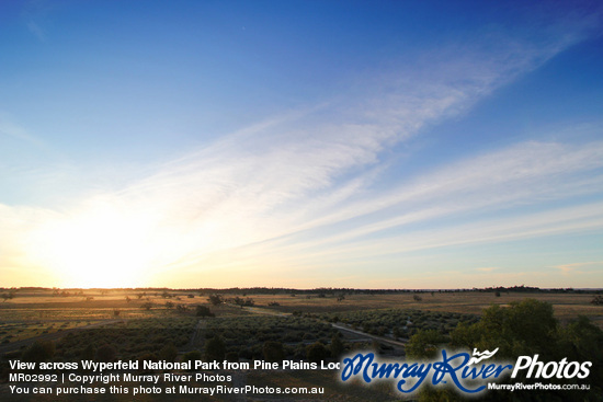 View across Wyperfeld National Park from Pine Plains Lodge