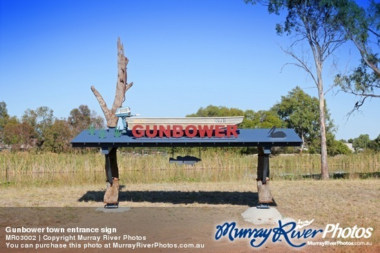 Gunbower town entrance sign