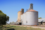 Wheat silos being filled at Piangil, Victoria