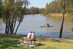 Relaxing on Tocumwal foreshore