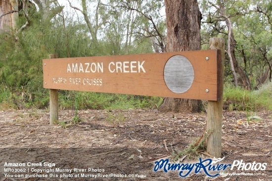 Amazon Creek Sign