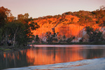 Murray River on sunset near Headings Cliffs, Riverland