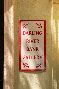 Darling River Bank Gallery sign, Wentworth