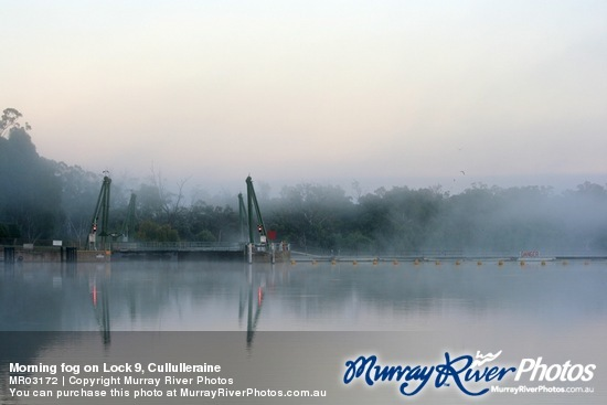 Morning fog on Lock 9, Cullulleraine