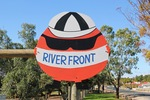Waikerie River Front Orange sign