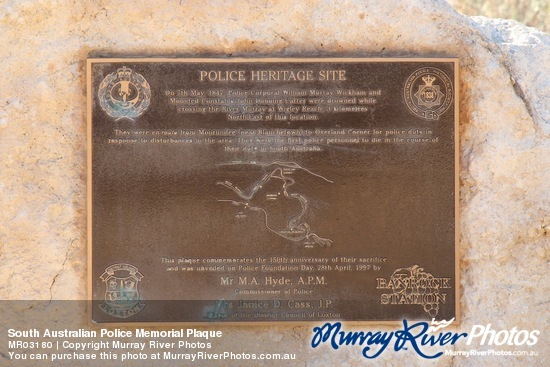 South Australian Police Memorial Plaque