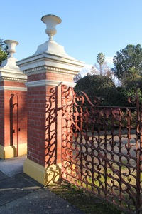 Historic gates in the Albury Botanic Gardens