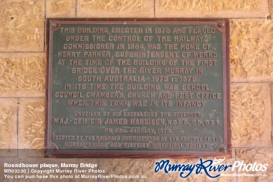 Roundhouse plaque, Murray Bridge