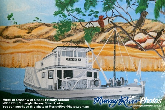 Mural of Oscar W at Cadell Primary School