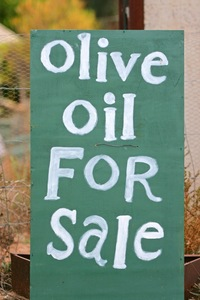 Olive Oil for Sale in Cadell sign