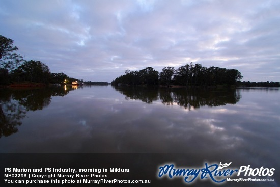 PS Marion and PS Industry, morning in Mildura