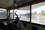 View from helm of Iron Dry, Mildura