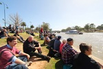 Crowd enjoying the PS Melbourne Flotilla