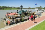 Frank Turton the Chook Man houseboat in Renmark