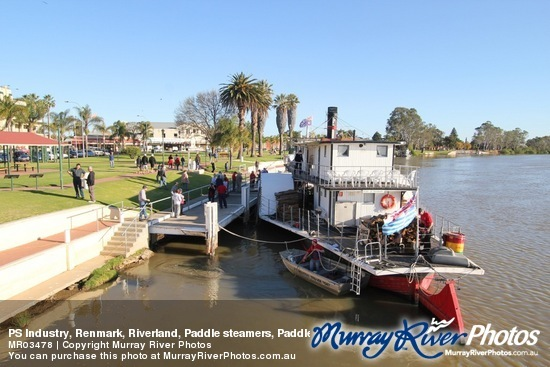 PS Industry, Renmark, Riverland, Paddle steamers, Paddle boats, Murray River, South Australia