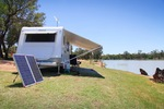 Caravanning at Moorook, Riverland