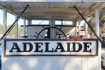 PS Adelaide sign and wheelhouse