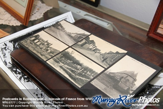 Postcards in Robinswood, Robinvale of France from WWI