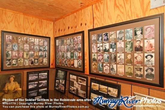 Photos of the Soldier Settlers in the Robinvale area after WWII at the Rural Life Museum