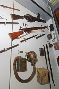 Weapons on display in the Rural Life Museum, Robinvale