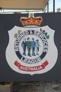 RSL sign in Blanchetown, South Australia