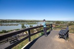 Mannum lookout over wetlands and Murray River